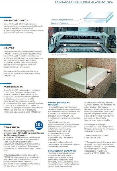 CATIDO OPTIMUM Walk-In Shower with Internal clamps Stainless Steel Optiwhite in various sizes