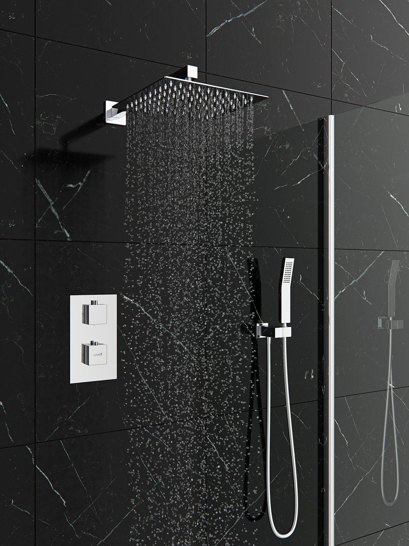 Zestaw Prysznicowy Podtynkowy Termostatyczny Deszczownica Ultra Slim